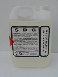 S.D.G CONCENTRATE DEGREASER /  S.D.G. is a heavy duty emulsifiable biodegradable de-greaser incorporating and effective rust inhibitor.