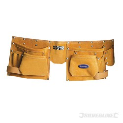 Heavy Duty 8 Pocket Double Pouch Tool Belt