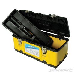 Toolbox  /  NEW  470X210X210mm Powder Coated Steel Alloy with Impact Resistant Polypropylene.