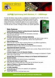 XFE Optimising Soft Starter 4-1800Amps 3phase