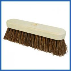Stiff Bassine Brush / Includes Wooden Broom Stick.