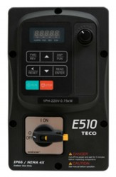 Teco E510 2.2Kw 5.2Amps 3PH 415v IP66 with switches